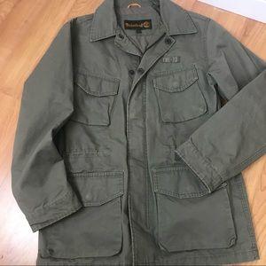 Timberland Green Cotton Canvas Utility Jacket Coat